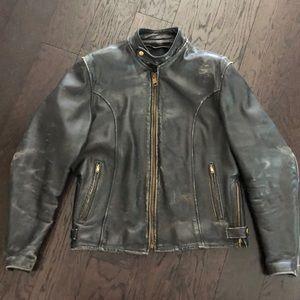 Vintage Genuine distressed black Leather Jacket